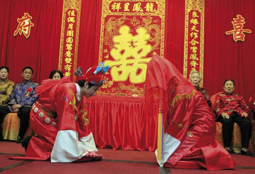 Las bodas tradicionales chinas están cada vez más de moda. Foto: CFP