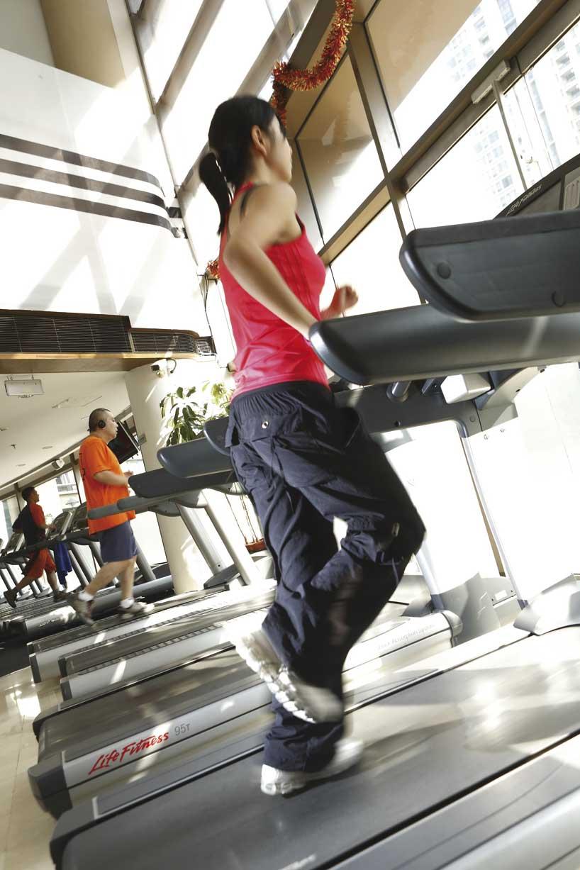 Los gimnasios son un lugar indispensable para los jóvenes profesionales chinos.
