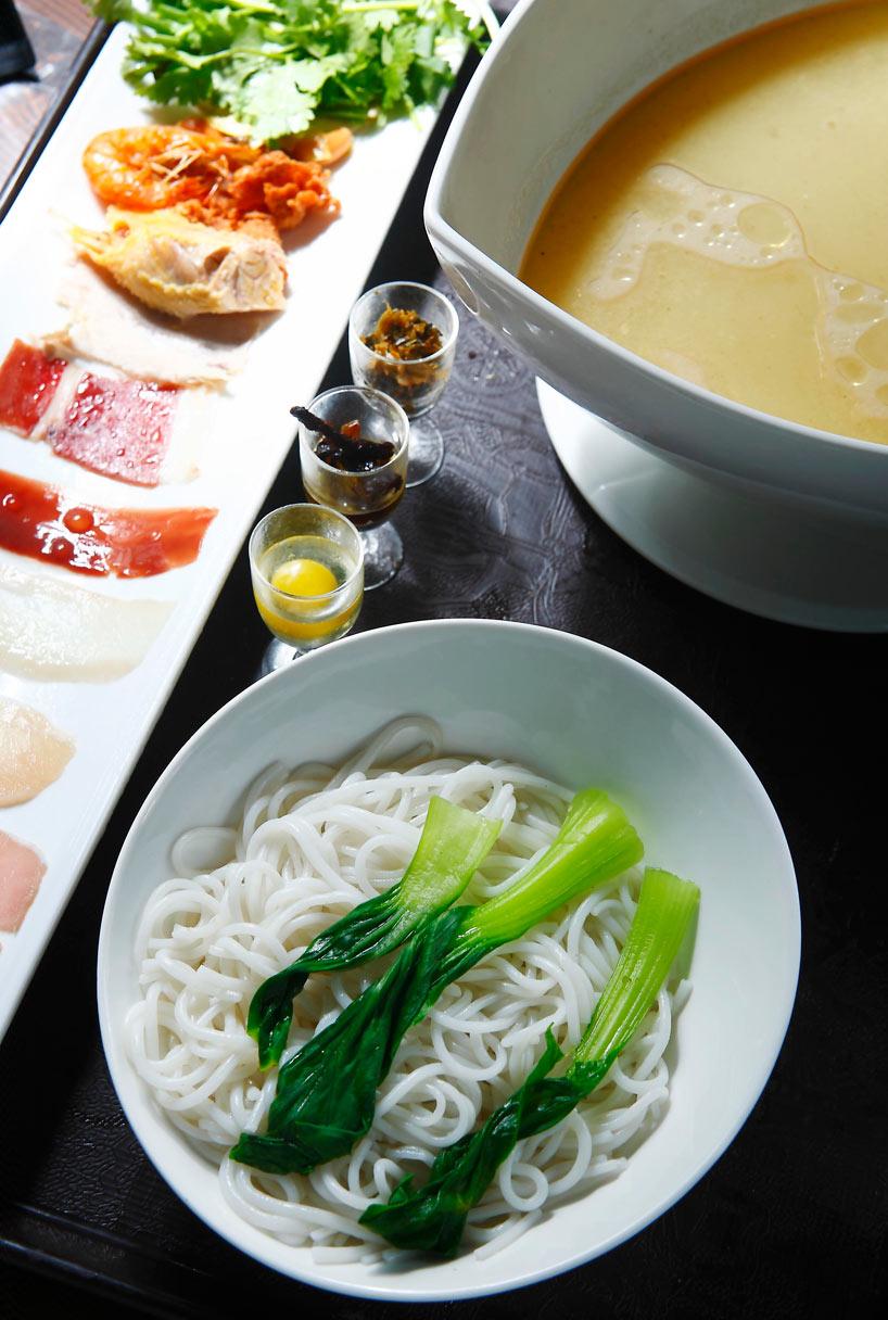 Fideos de arroz al estilo Guoqiao.