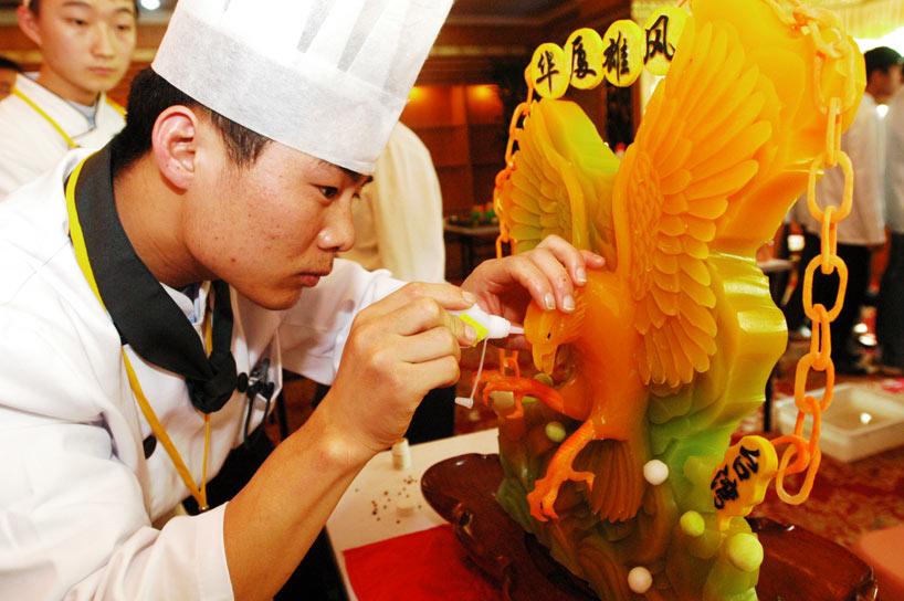 La decoración con filigranas forma parte esencial de la gastronomía china.