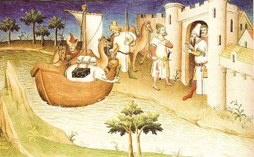 """Detalle del manuscrito """"El libro del millón""""."""