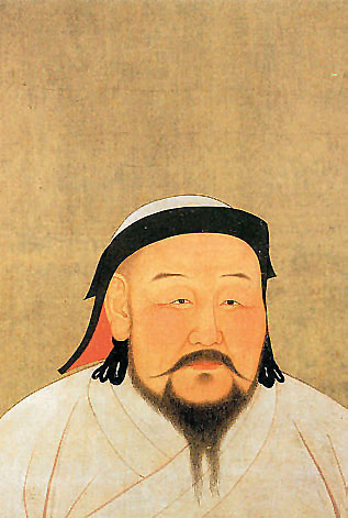 Retrato de Kublai Kan.