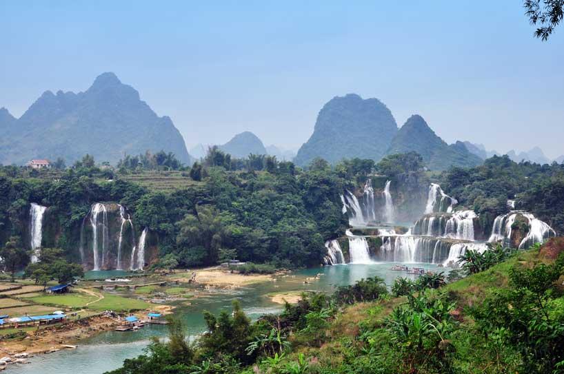 Las cascadas de Detian en Nanning.