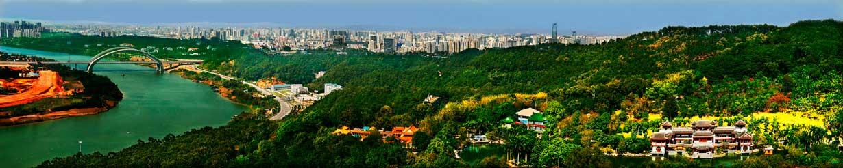 Vista panorámica de Nanning desde el Monte Qingxiu.