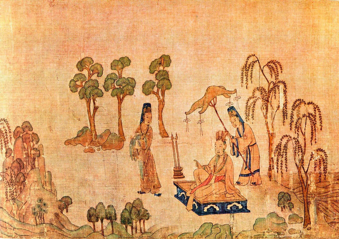 """""""La ninfa del río Luo"""", de Gu Kaizhi."""
