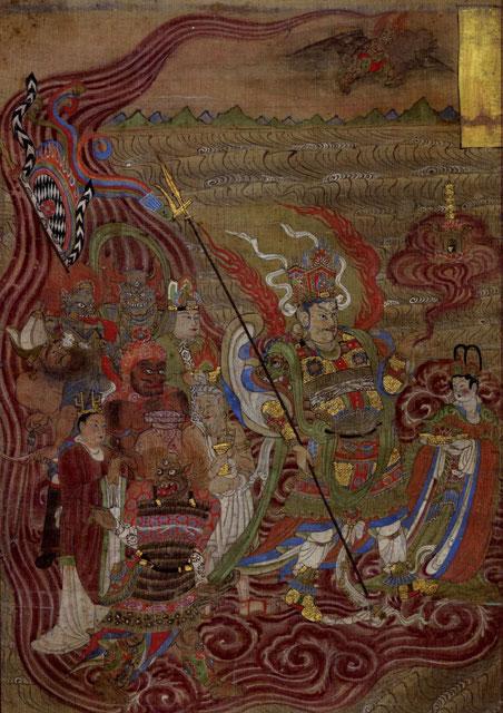 Obras de las Grutas de Mogao en el Museo Británico.