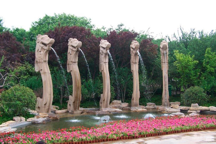 Lago de los cinco dragones. Jinan.