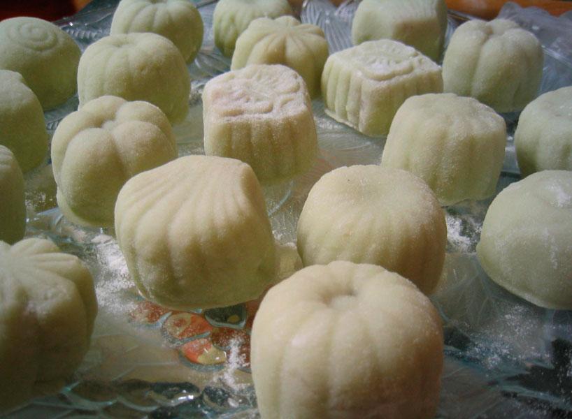 Pastel de la luna de hielo/ 冰皮月饼 / bingpi yuebing