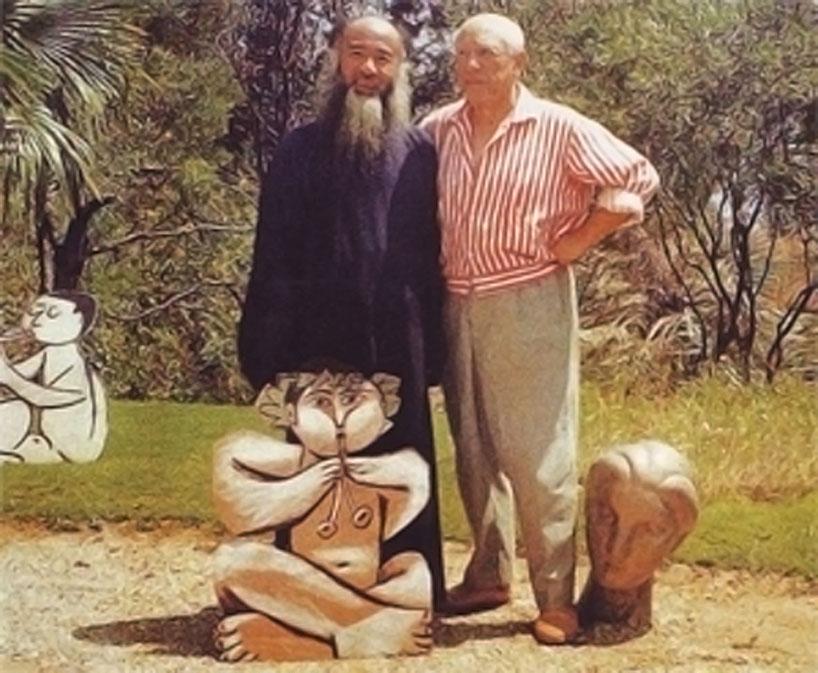 Visita de Zhang a Picasso.