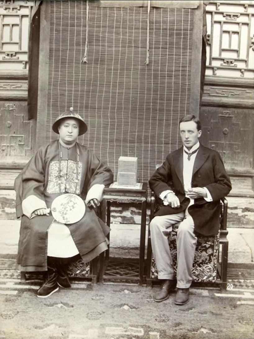 Duke Kung y Reginald Johnston (1905).