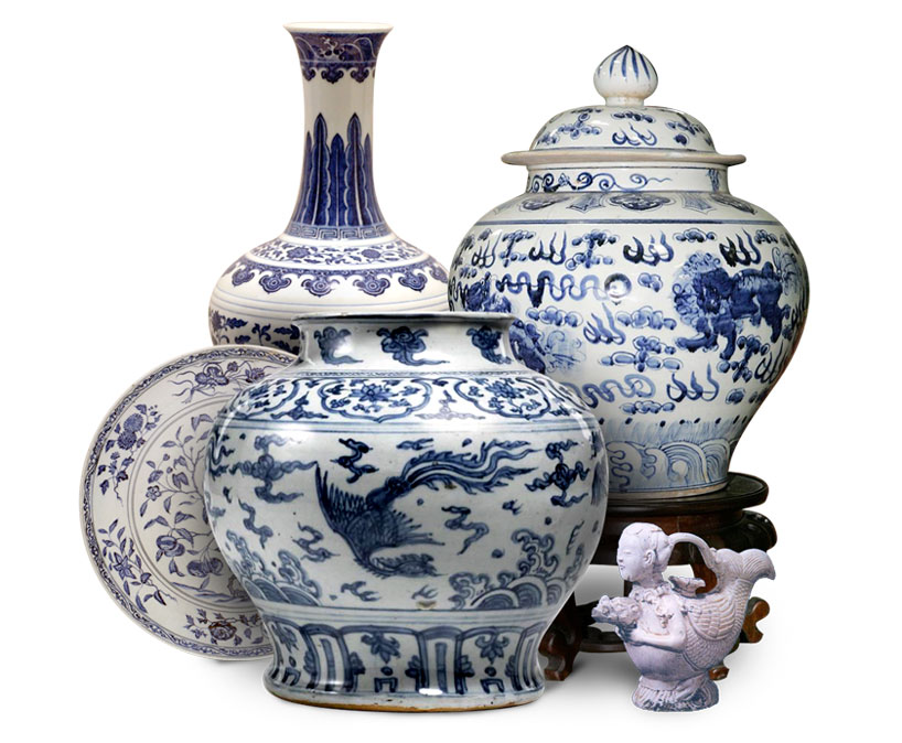 Piezas tradicionales de porcelana china. Inventos de la antigua china.