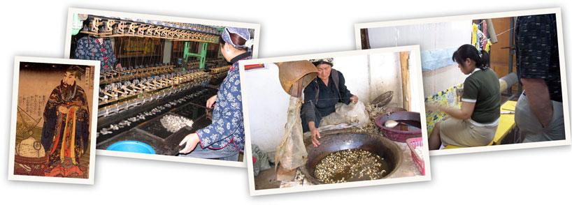 Proceso de fabricación de la seda.