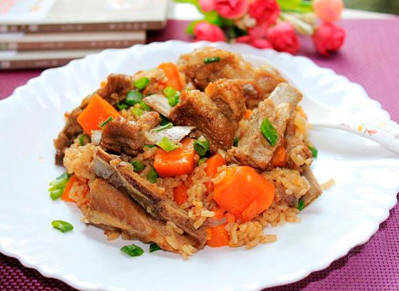 El cordero en la cocina china- Arroz con cordero