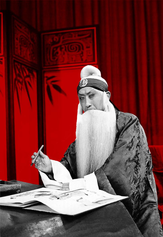 Ma Lianliang en el papel de Cheng Ying - El huérfano del clan de los Zhao