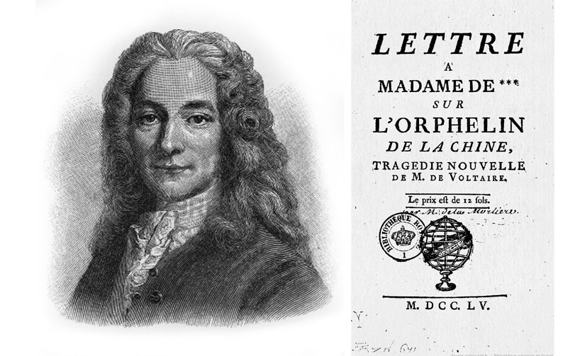 """Voltaire y la adaptación """"L'Olphelin de la Chine"""" - El huérfano del clan de los Zhao"""