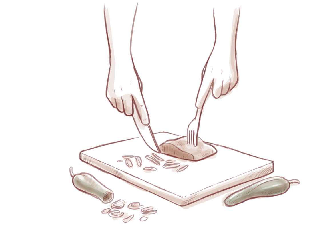 panecillo asado de carne de burro