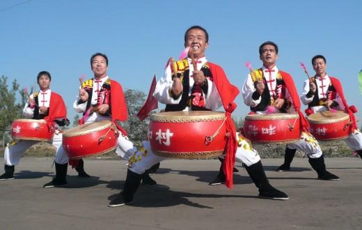 El gong y el tambor Weifeng