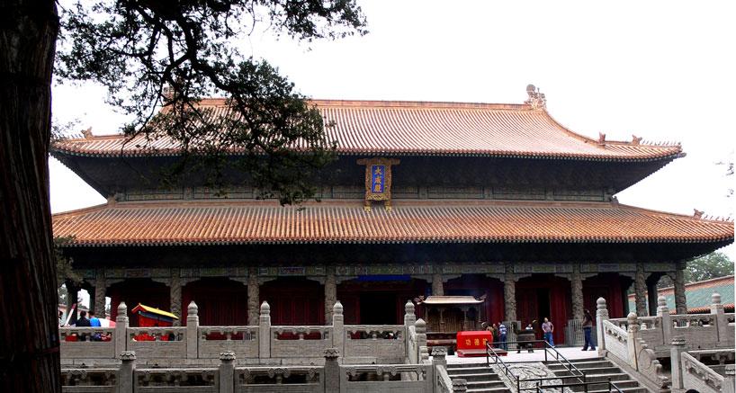 La Sala Dacheng es el centro arquitectónico del complejo . Qufu