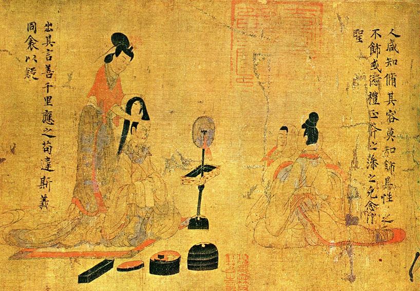 Gu Kaizhi, Consejos de la institutriz para las damas de la corte.