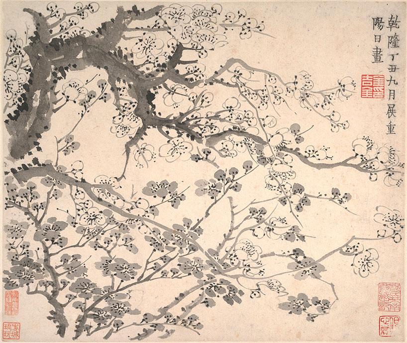 Ciruelo en flor de Jin Nong - Los ocho excéntricos de Yangzhou