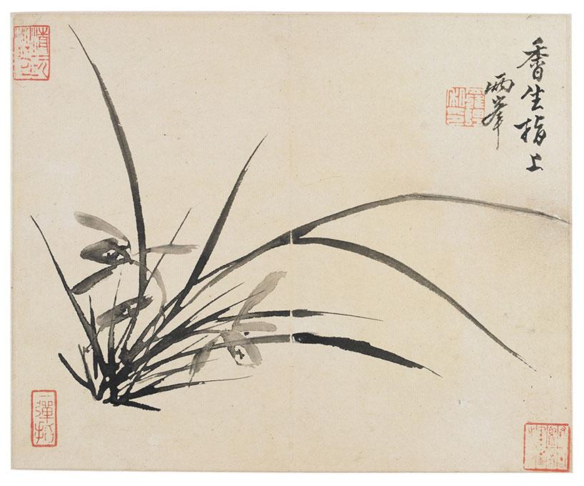 Orquídea de Luo Pin - Los ocho excéntricos de Yangzhou