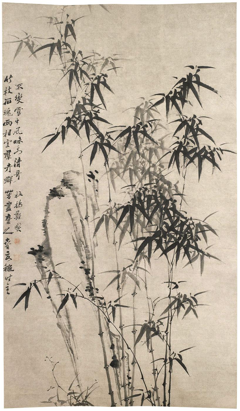 Roca y bambú de Zheng Xie - Los ocho excéntricos de Yangzhou