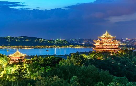 Lago del Oeste en Hangzhou - Zhejiang