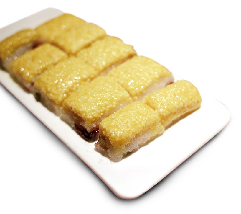 Pastel de arroz amarillo (黄米蒸糕)