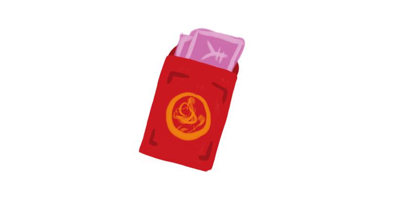 Regalar sobres rojos a los niños (给小辈们发压岁钱)