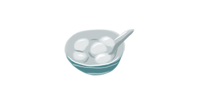 Comer sopa de bolas de arroz glutinoso (吃元宵)