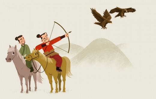 Matar dos águilas con una sola flecha