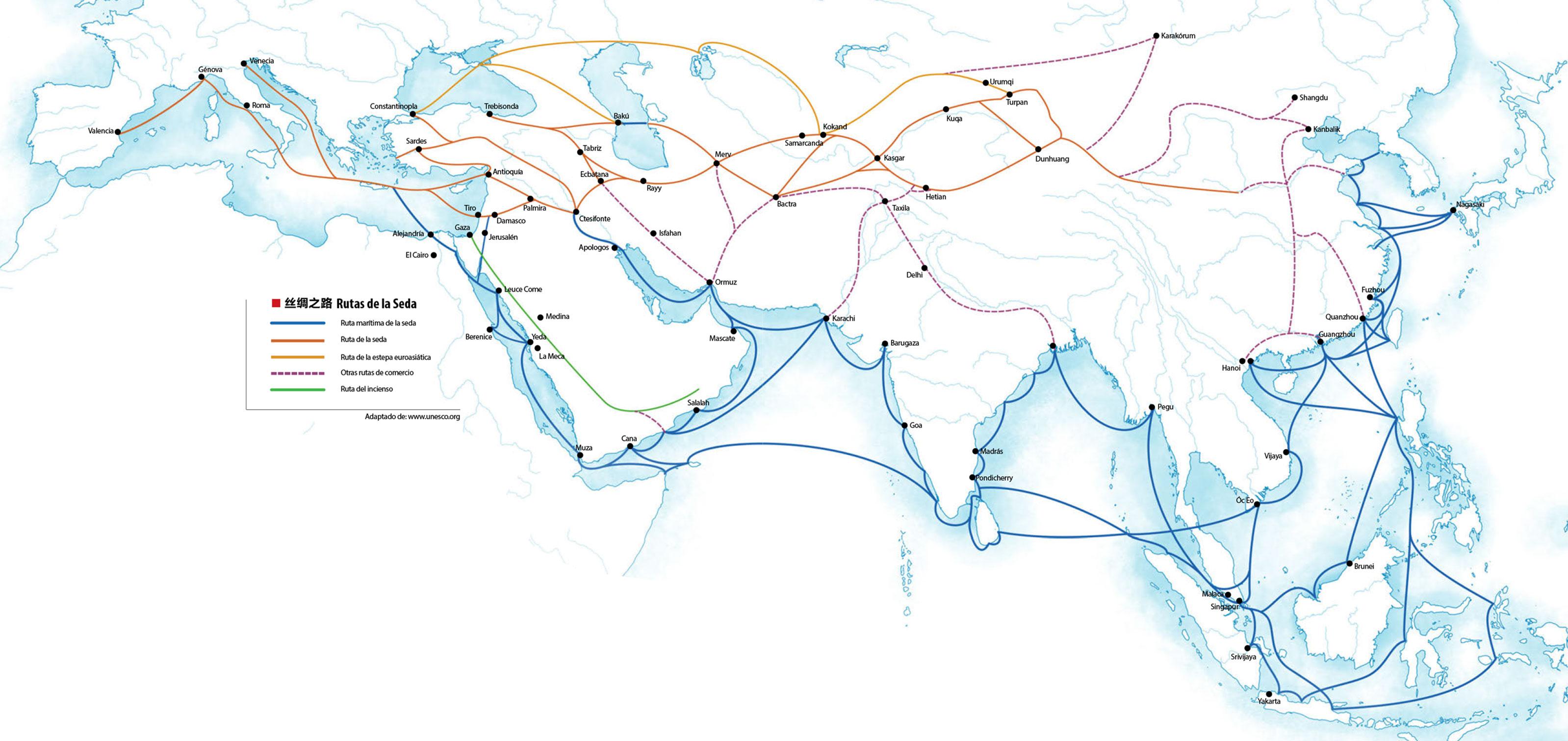 rutas marítimas chinas