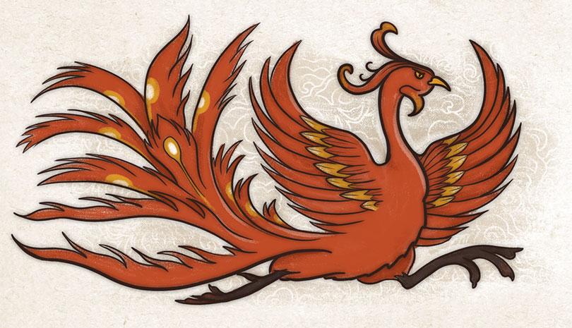 Ave Bermellón. Cuatro bestias cosmología china