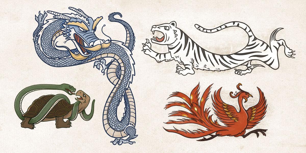 Cuatro bestias cosmología china
