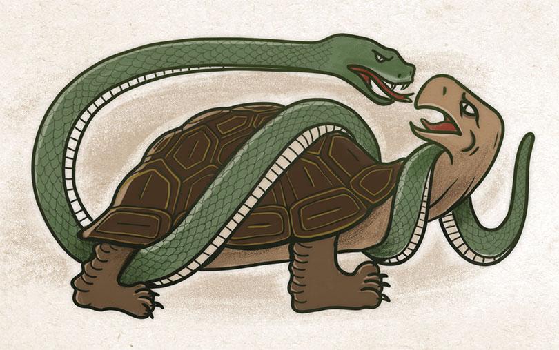 Tortuga Negra Cuatro bestias cosmología china