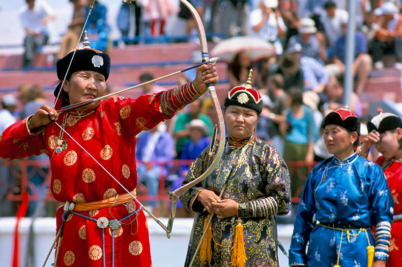 """El festival Naadam de """"los tres juegos del hombre"""" de Mongolia Interior"""