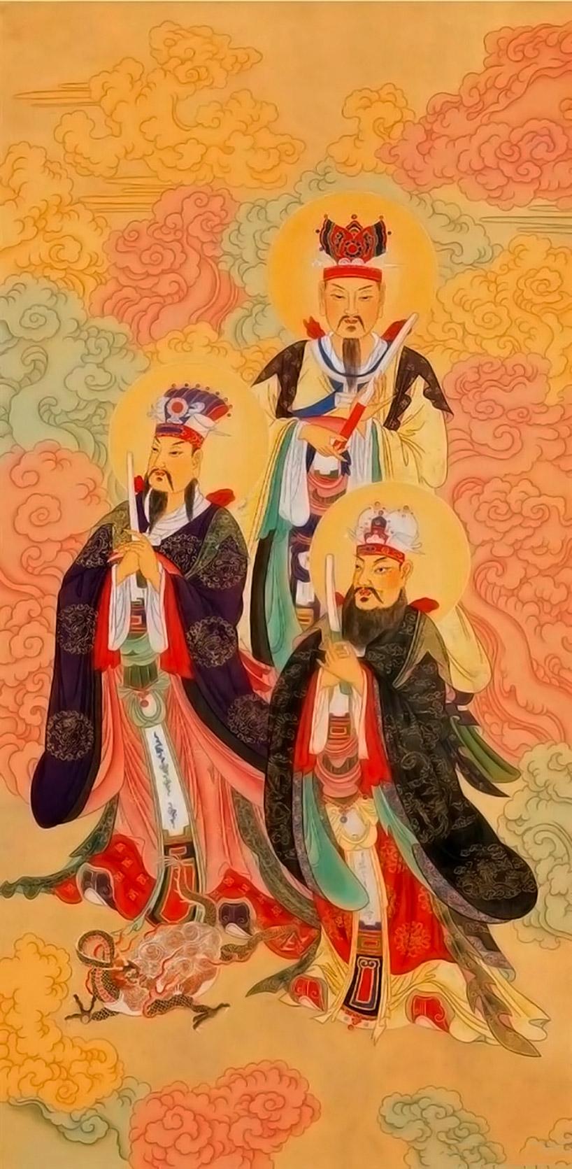 Imagen de los tres funcionarios. Festival de los fantasmas