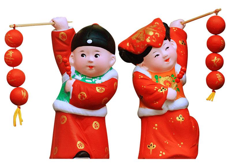 Figurillas de arcilla de la familia Zhang en Tianjin