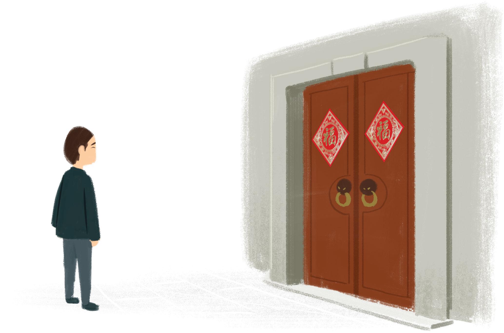 门前 mén qián —Delante de la puerta