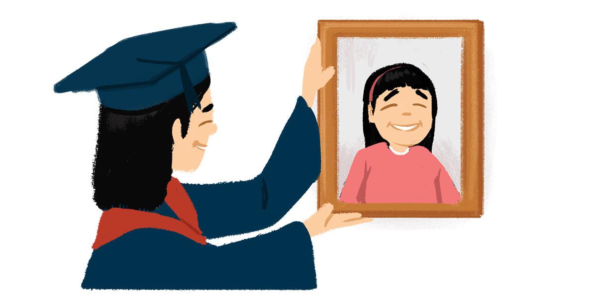 毕业前 bìyè qián — antes de graduarse