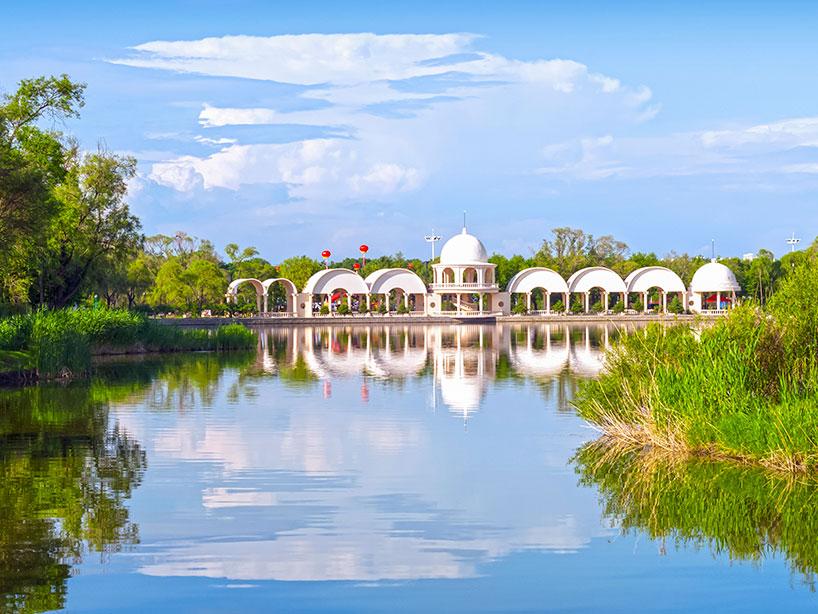 Isla del Sol del río Songhua