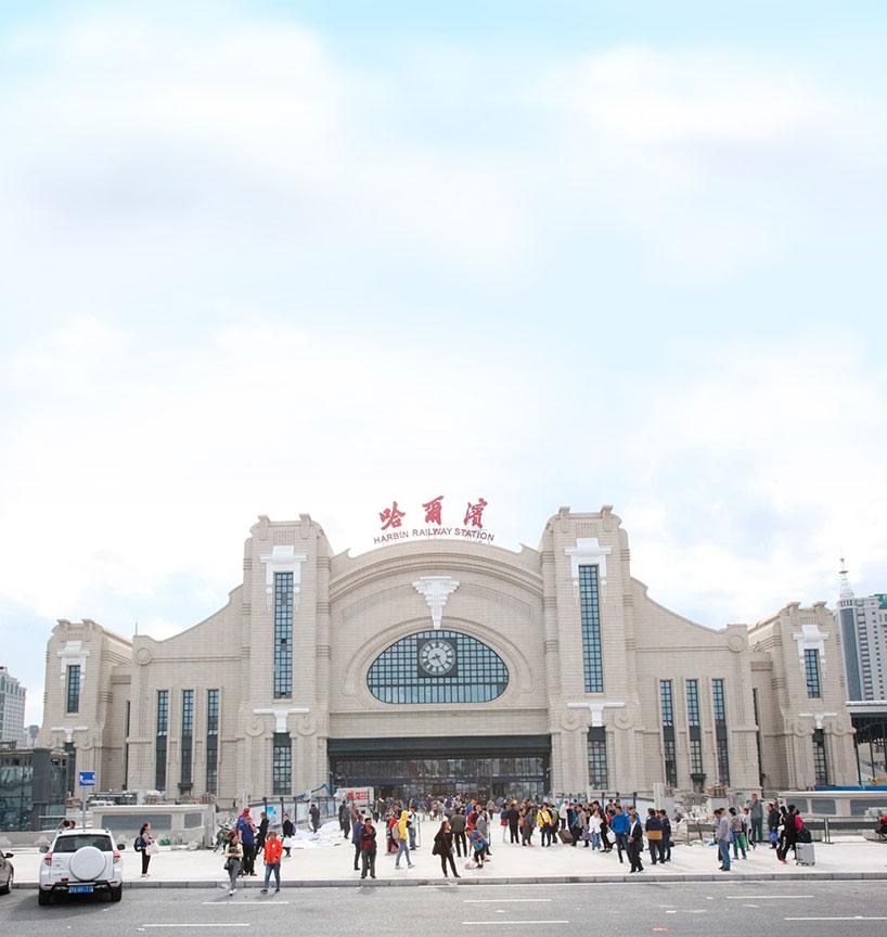 Estación de trenes de Harbin. Tren Transmanchuriano