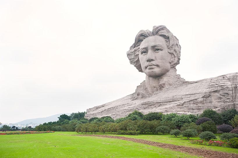 Estatua de Mao Zedong en la isla de las Naranjas en la ciudad de Changsha.