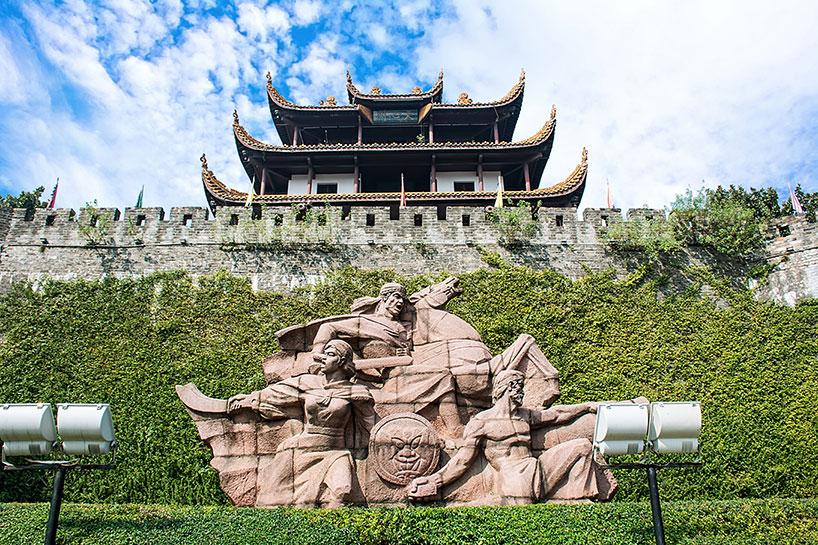 l pabellón Tianxin se encuentra sobre la antigua muralla de Changsha.