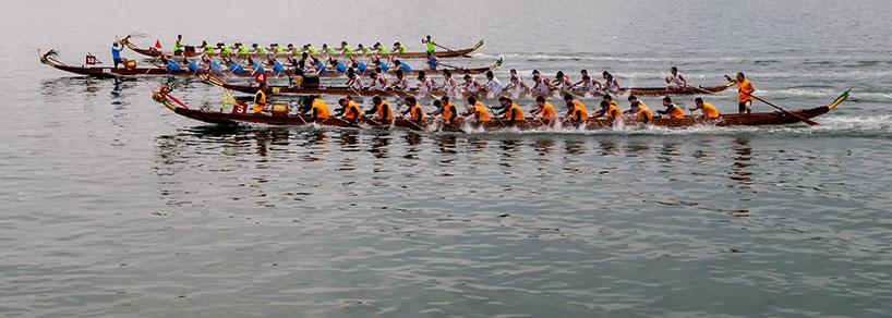 Fiesta de los Botes de Dragón en Changsha.