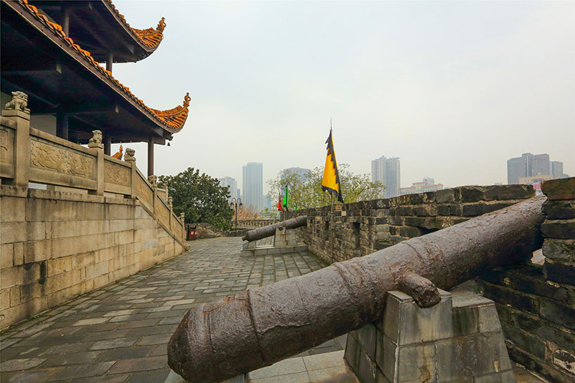 Antigua muralla de la ciudad de Changsha.