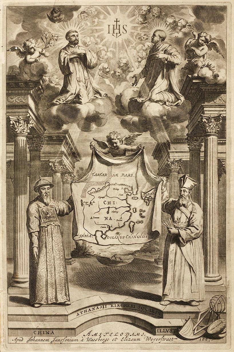 Adam Schall von Bell y Matteo Ricci, China ilustrada por Athanasius Kircher