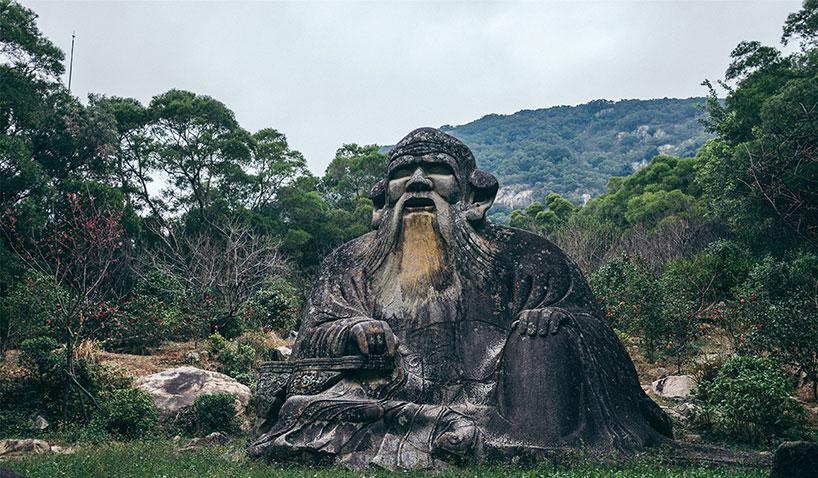 Estatua de piedra de Laozi. Montaña Qingyuan