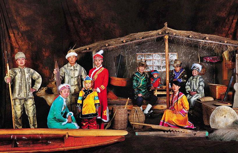Grupo étnico hezhen.