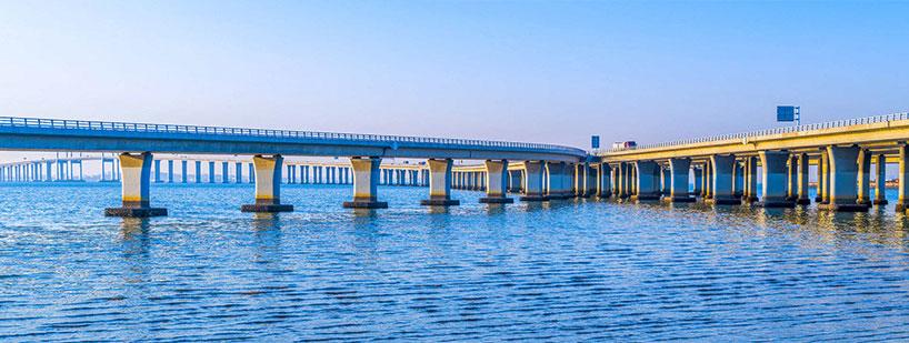 Puente de la bahía de Jiaozhou.